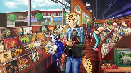 Record Store by Jackburned