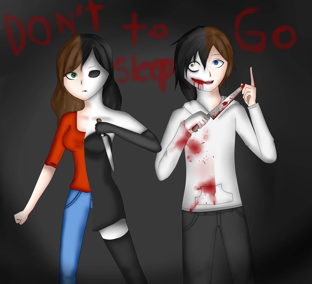 Jane the killer VS Jeff the killer by aniflame on DeviantArt