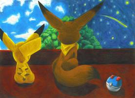 Two friends under one sky by EmeraldEevee