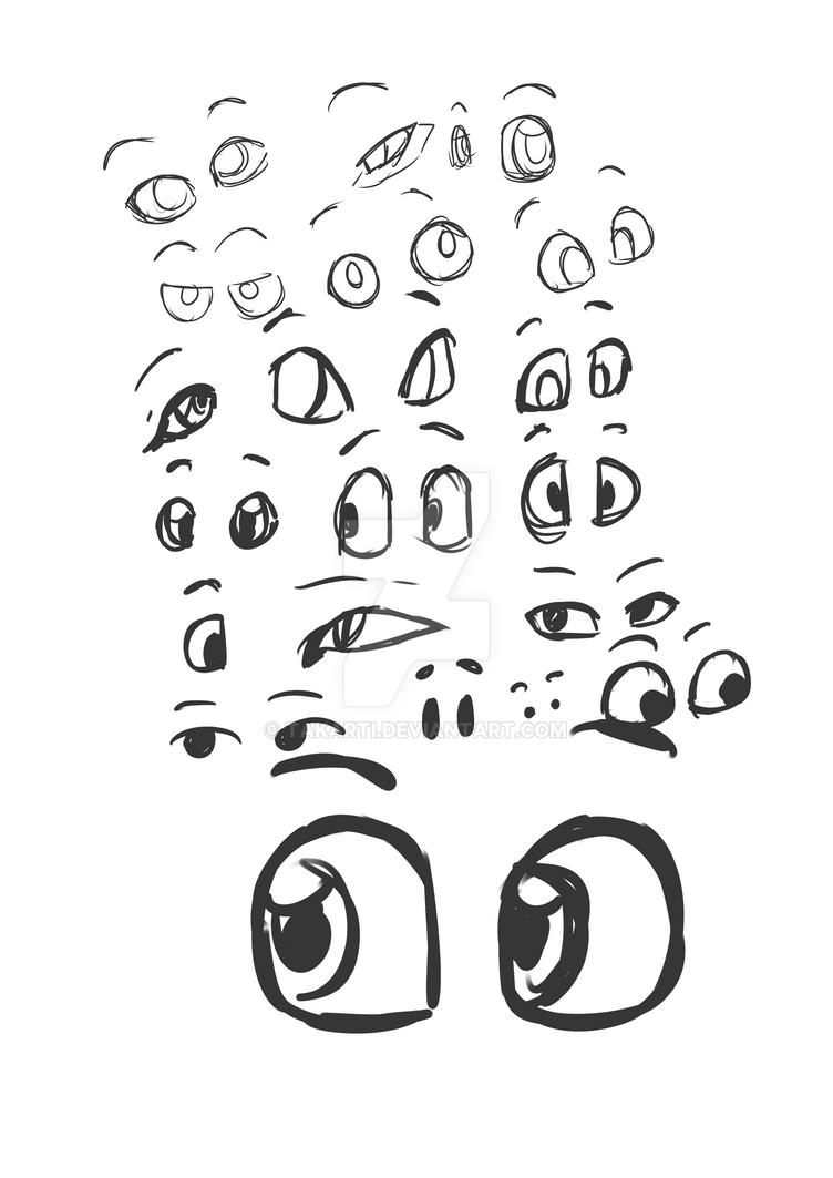 HND Artist Book - Character Development - Eyes by Takarti
