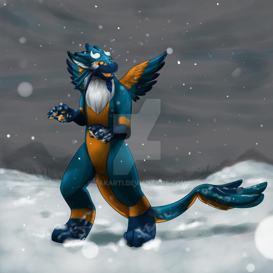 Daveita's First Snow by Takarti