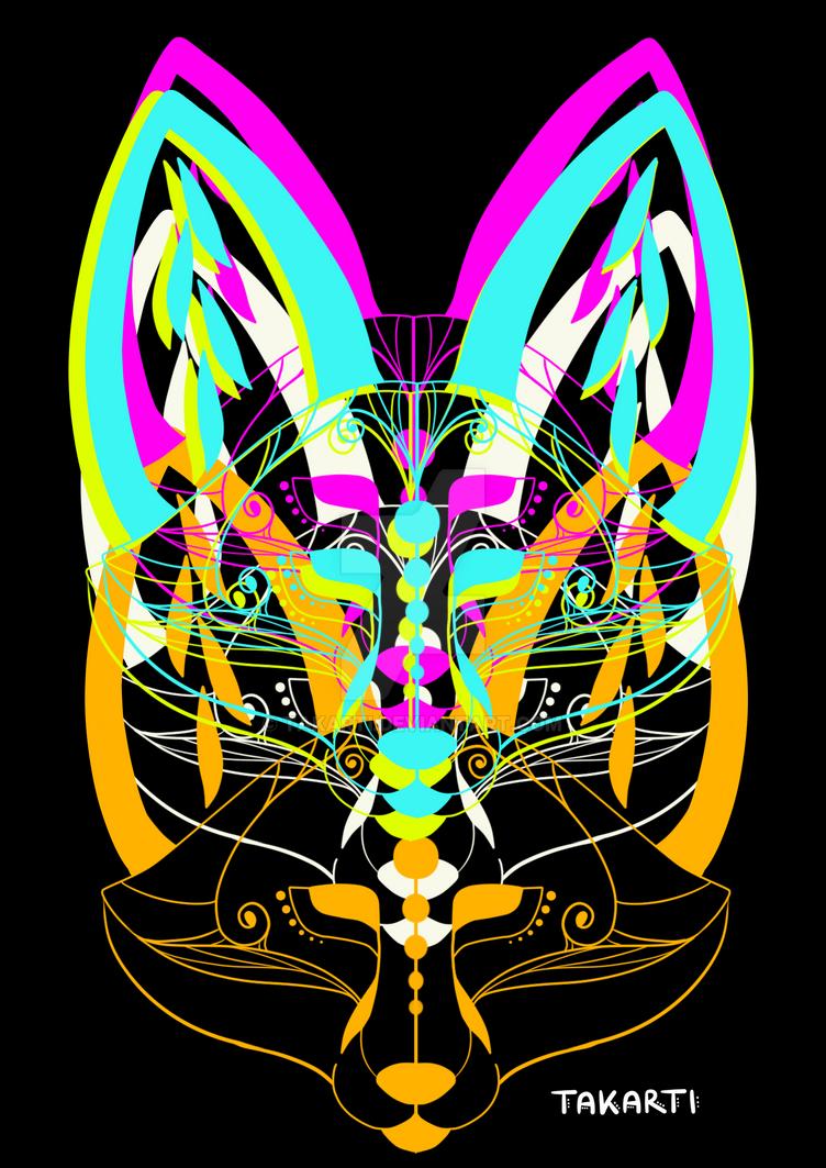 Fox Heads 1 by Takarti