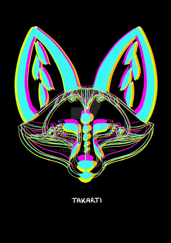 Fox Heads 2 by Takarti