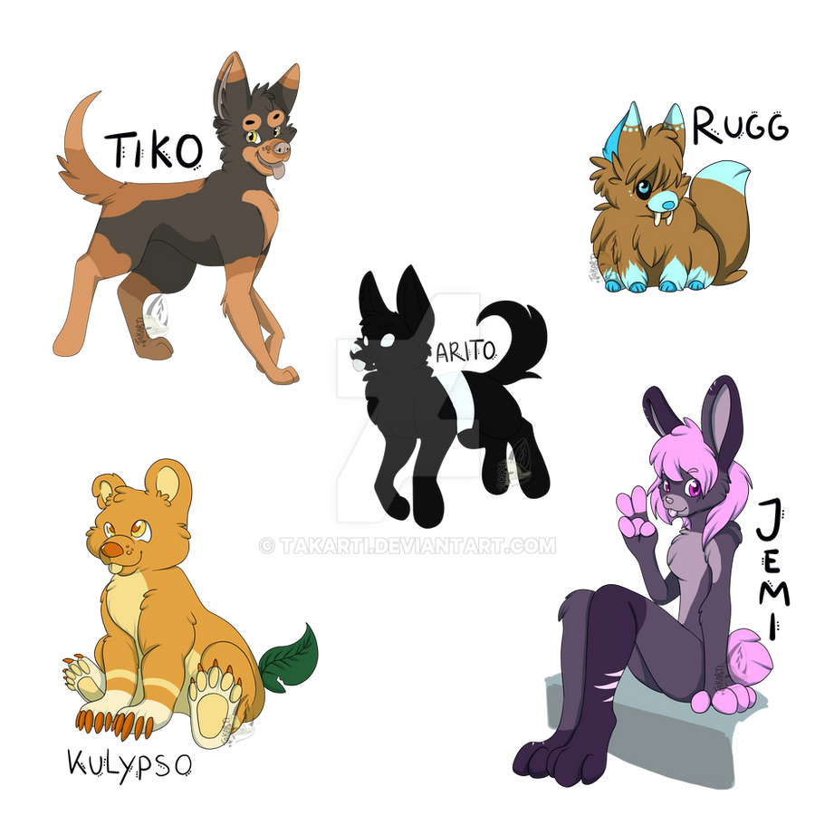 New characters by Takarti
