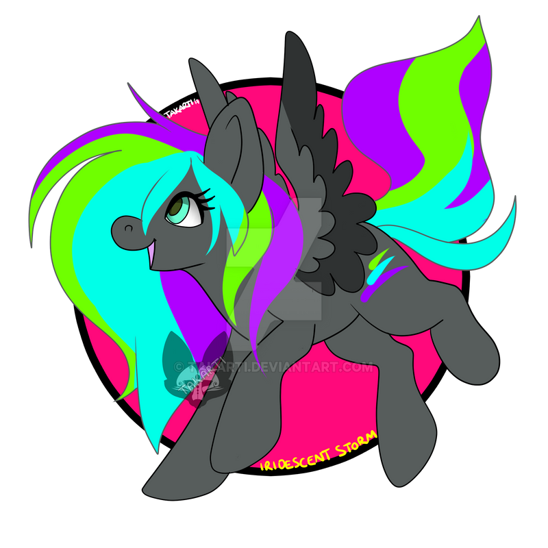 MLP - OC: Iridescent Storm by Takarti
