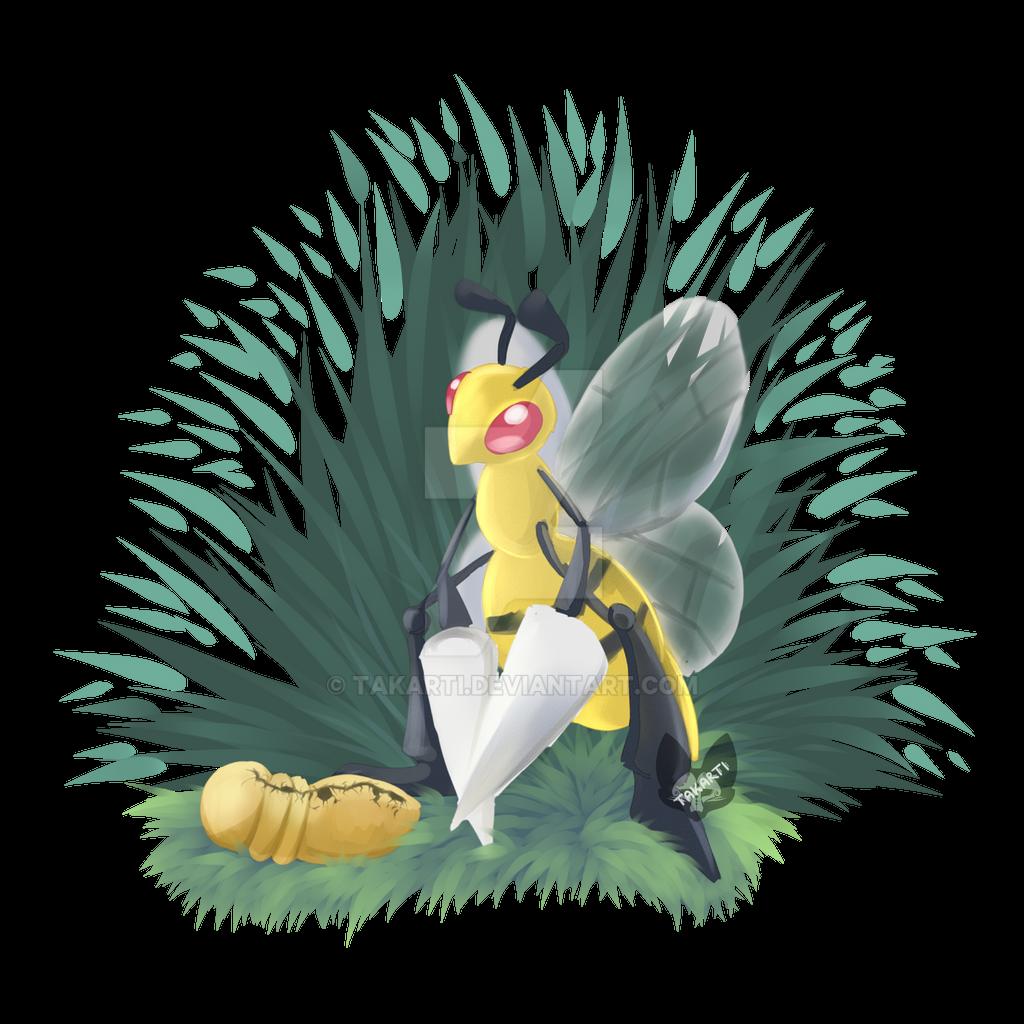 Pokemon: Kakuna and Beedrill by Takarti