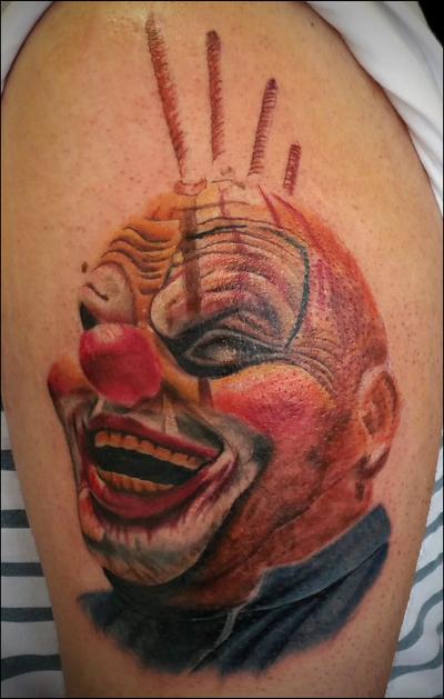 Bolthawk clown tattoo by rustledjimmys on deviantart for Clown mask tattoos