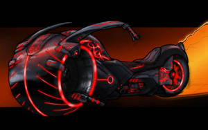Tron light chopper by AndrewTober