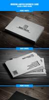 Modern lawyer business card