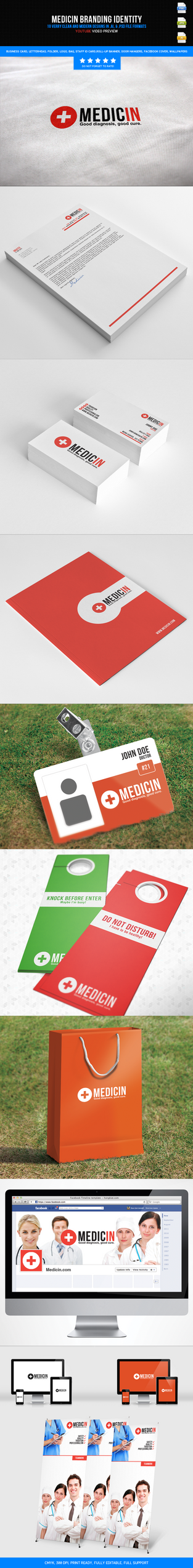 Medicin Branding Identity (Big Pack) by harmonikas996