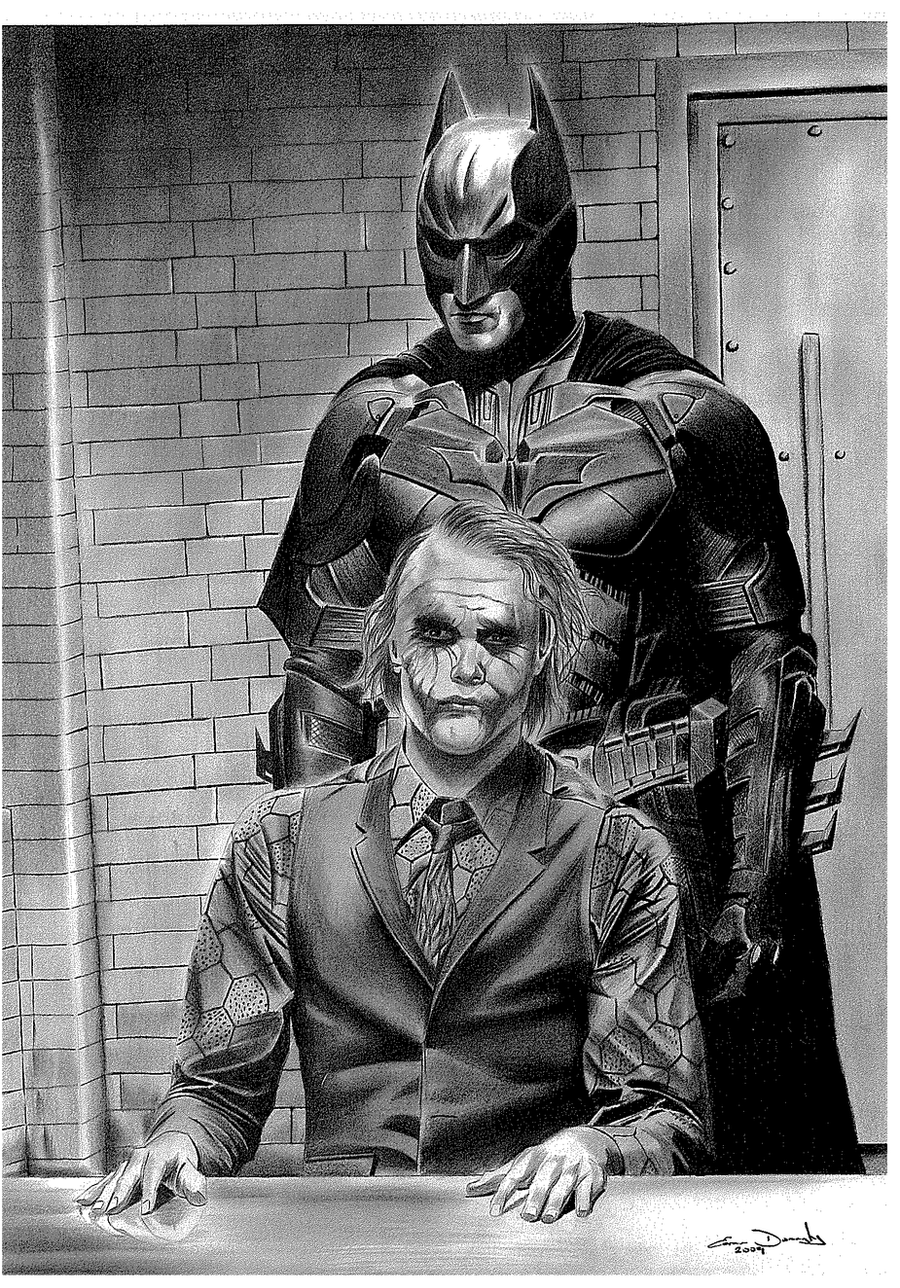 Batman and Joker by donchild