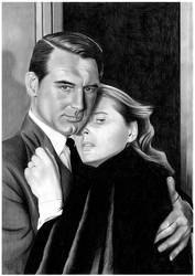 Cary Grant and Ingrid Bergman by donchild