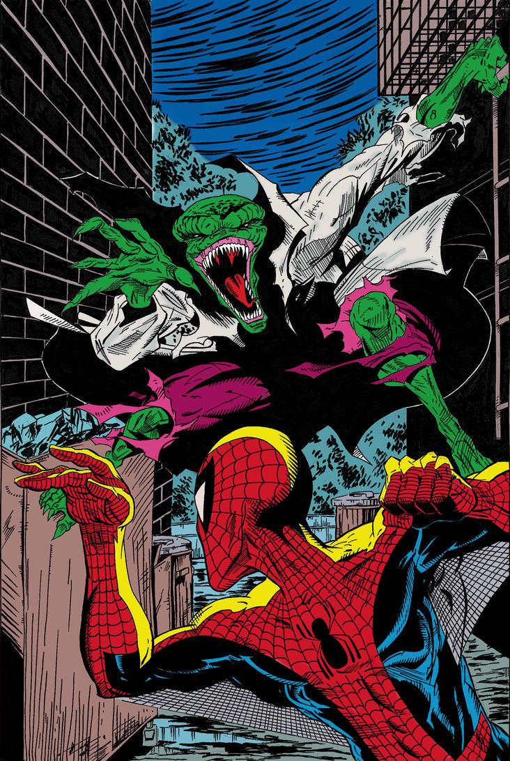 Lizard spiderman comic