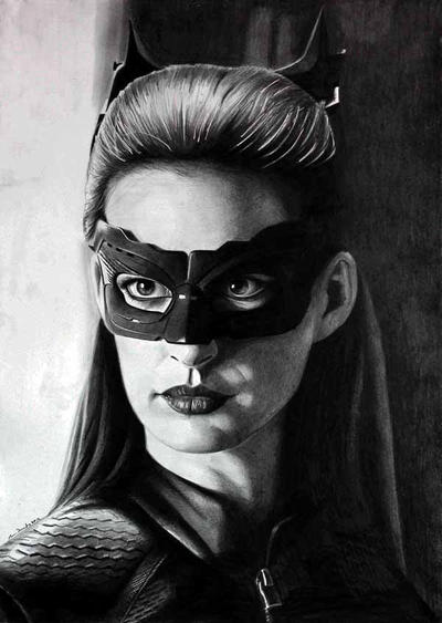 Anne Hathaway Catwoman by donchild