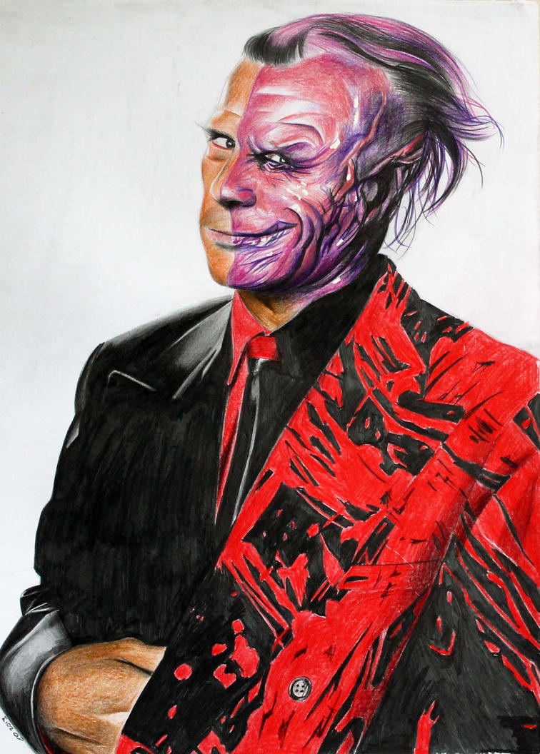 Two Face Harvey Dent: Tommy Lee Jones Two Face By Donchild On DeviantArt