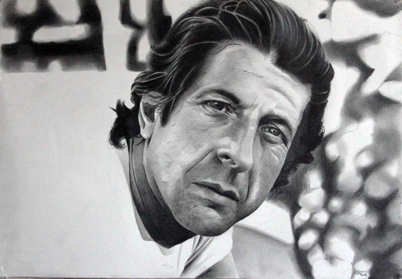 Leonard Cohen Tribute Drawing by donchild