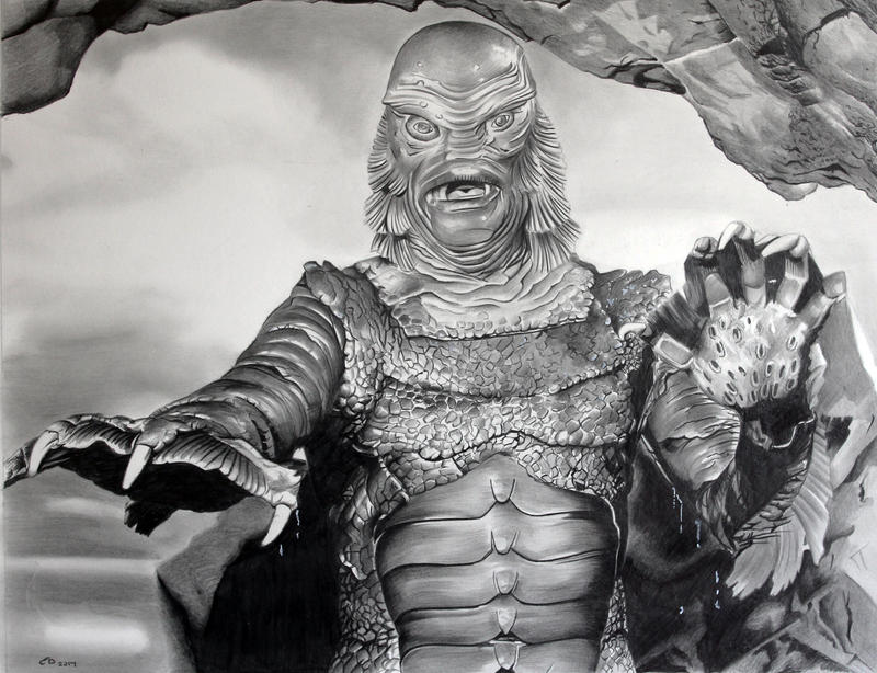 The Creature from the Black Lagoon by donchild