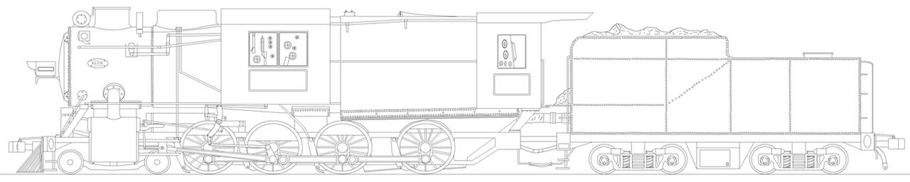 Camelback 4-8-0 Template by PanzerschreckLeopard