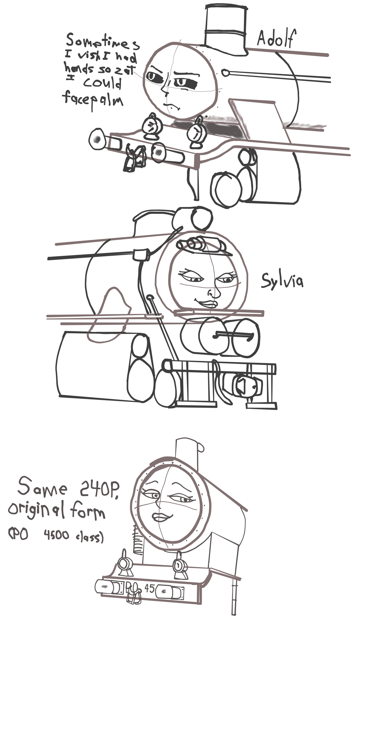 steam engine train group