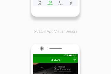 XClub App Visual Design