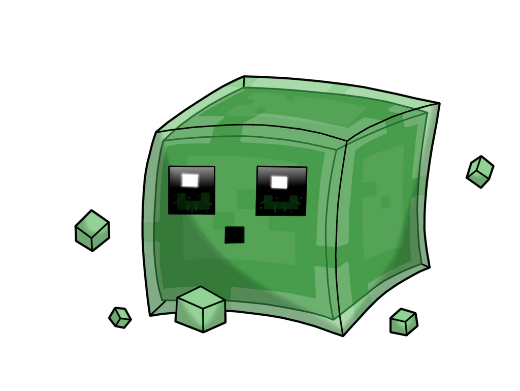 Minecraft Slime Free Coloring Pages