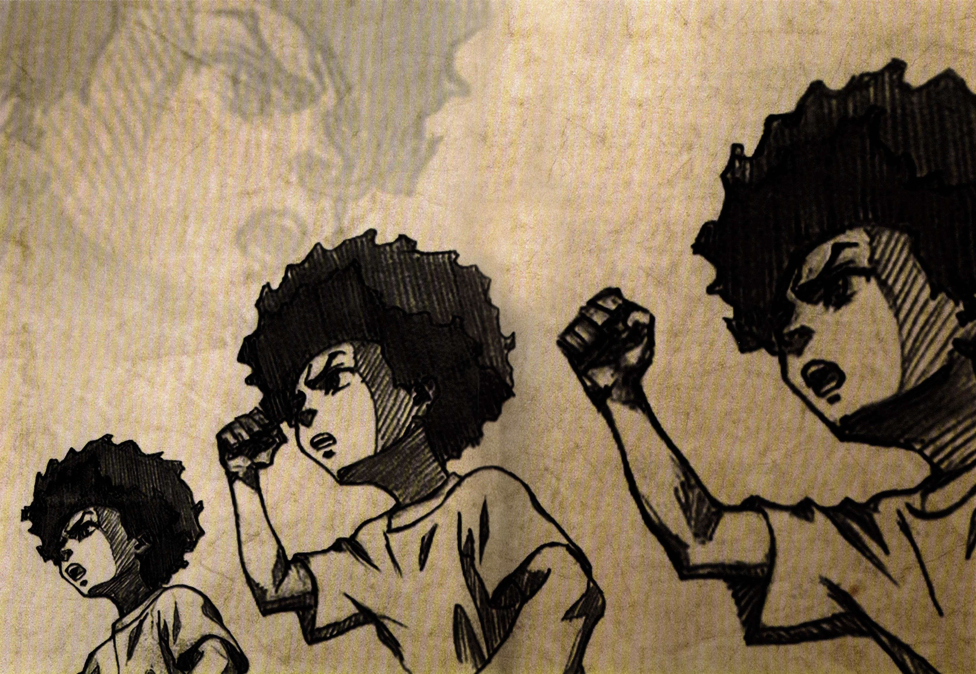 The Boondocks Wallpaper Huey Freeman By Razpootin On