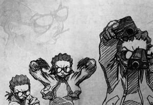 The Boondocks Wallpaper - Riley Freeman BnW