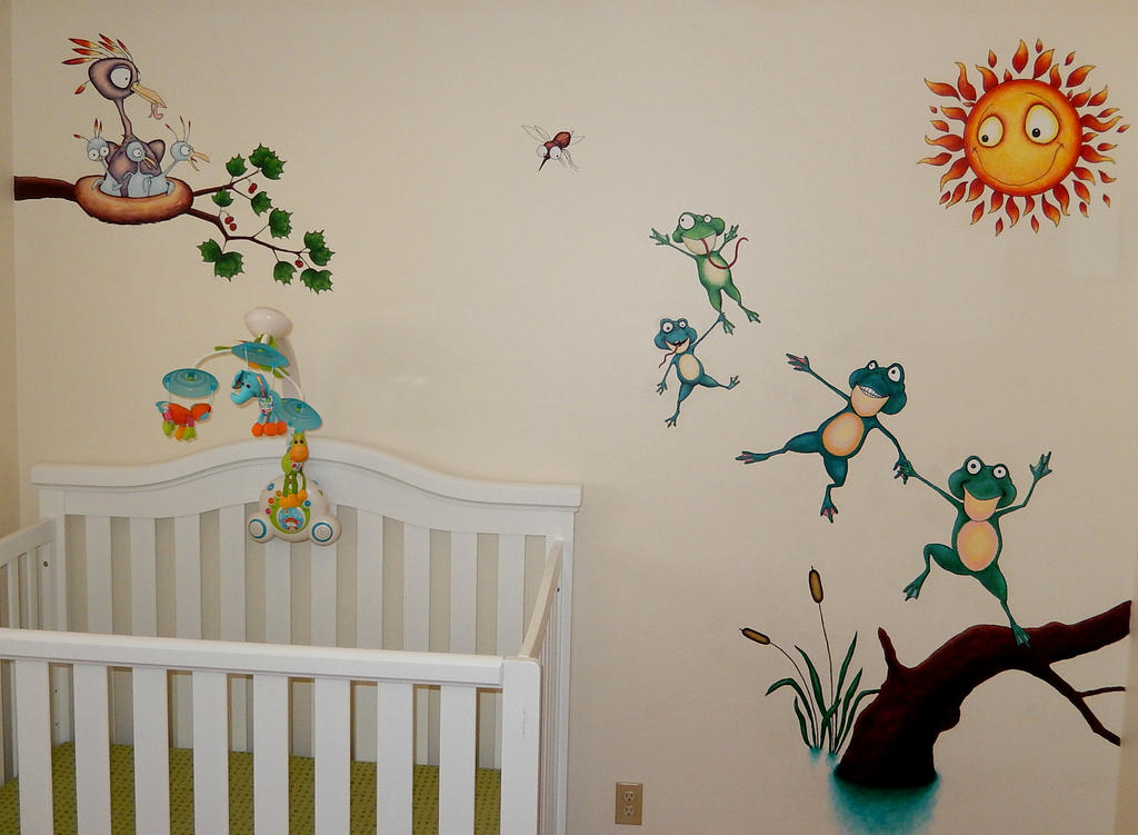 Nephews' room mural by bbyoung1971