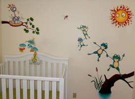 Nephews' room mural
