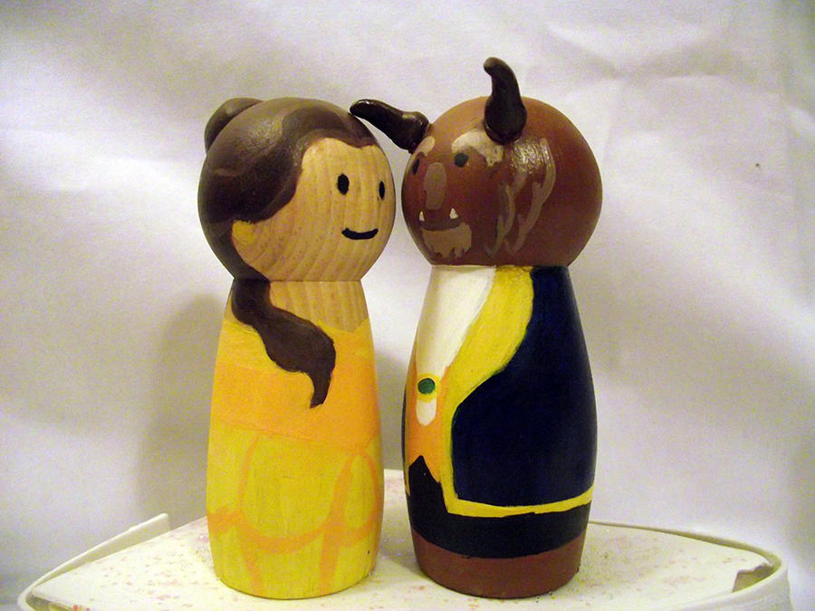 Beauty And The Beast Cake Toppers By Usagi Cri On Deviantart