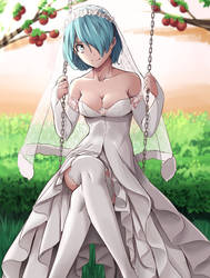 girl in wedding dress in a swing by nico-MO