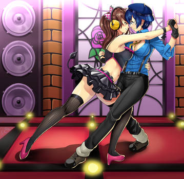 Naoto and rise personadancing - commission