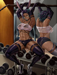 Bunnygirl in the gym- commission