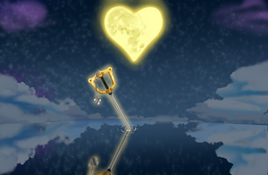 The Kingdom Hearts sword in the night - commission
