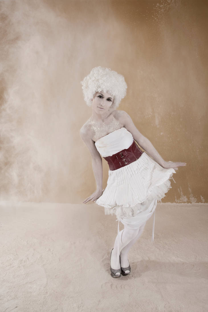 Red Belt Dress by Cupcake--Princess