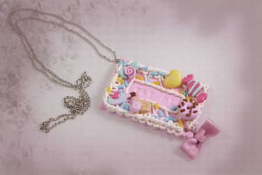 Eat Me! Cookie Necklace by Cupcake--Princess