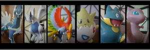 Pokemon line up by burntheashes0