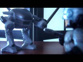 Robocop vs. ED-209 by burntheashes0