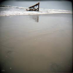 Astoria Beach Holga by burntheashes0