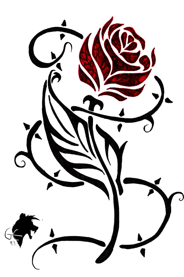 Tribal tattoo- Rose by ~GreenEco94 on deviantART