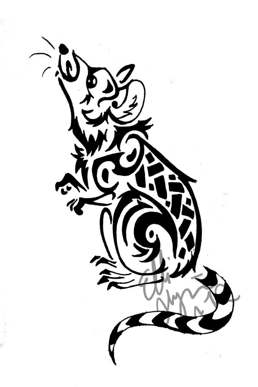 a rat tribal tattoo by greeneco94 on deviantart. Black Bedroom Furniture Sets. Home Design Ideas