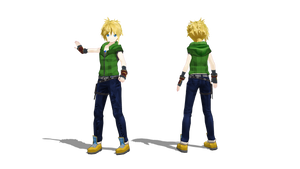 [MMD] Maroon model DL by Kevin-BS23