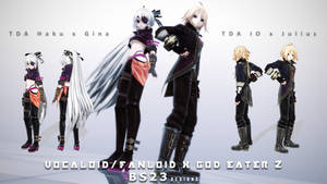 [MMD] Vocaloid/Fanloid x God Eater - 1st Pack DL! by Kevin-BS23