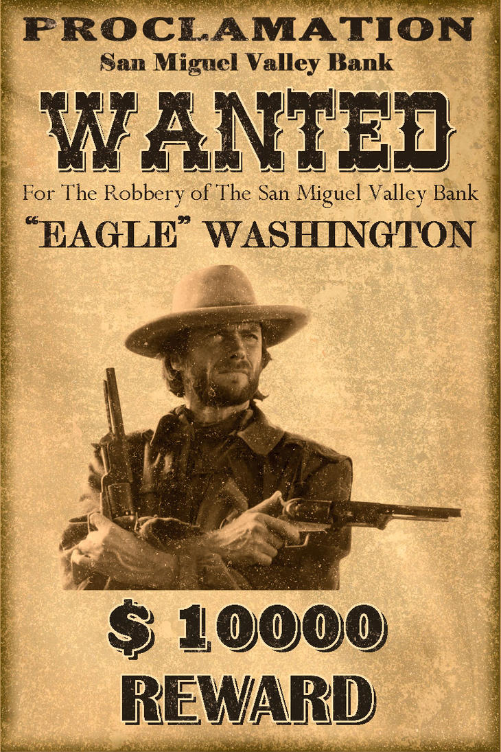 Classic Western WANTED poster by MT991798 on DeviantArt