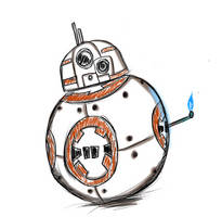 SaD #1 - BB-8 by EtherDraws