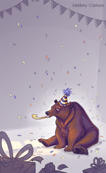 Birthday Bear by MallorySmallory
