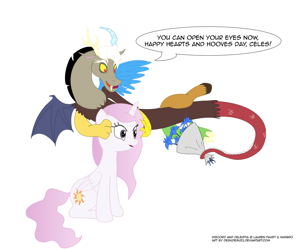 Young Discord x Celestia -Hearts and Hooves Day by ... Wedding Bouquet Coloring Pages