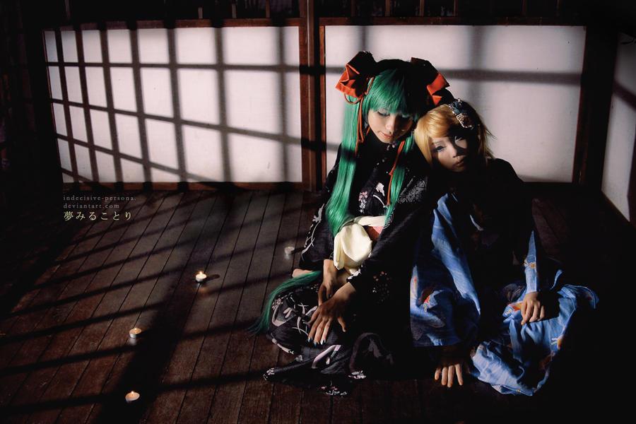 Yumemiru Kotori - Miku, Rin I by lavena-lav
