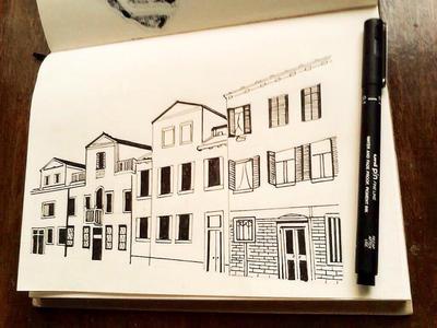 Random Alley Sketch by TruiArts