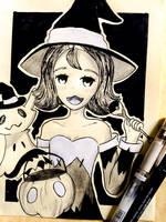 Acerola and Mimikyu Halloween! by TruiArts